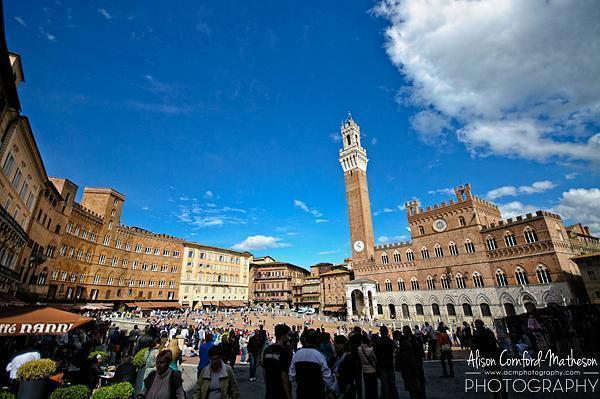 The UNESCO designated Piazza del Campo, home of the Palio di Siena