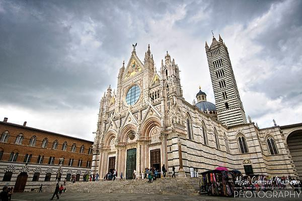 The ornate Siena Cathedral