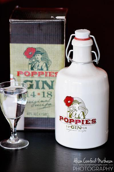 Poppies Gin - We can't find out much about it, other than we like it!