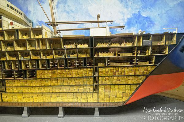 Model of the interior of an RSL ship