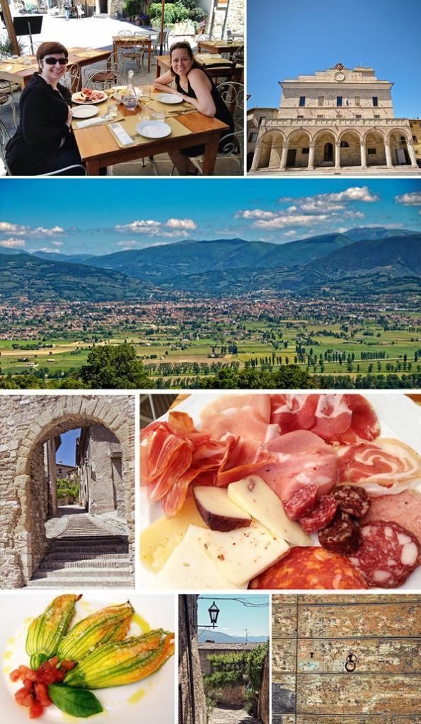 We had a snack it picturesque Montefalco