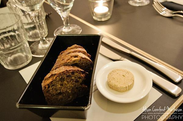 Fresh bread with truffle butter