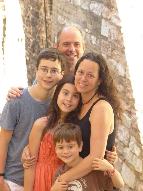 Michelle and her family, on their way 'home' to the USA