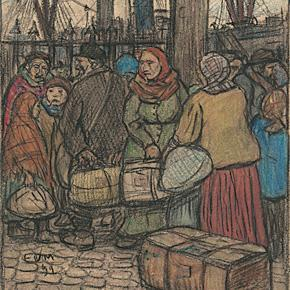 Eugeen Van Mieghem drew the people he saw everyday at Antwerp's port.