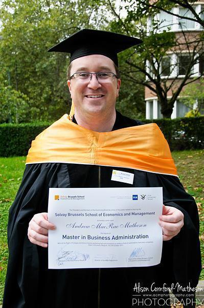 Hurrah! Andrew gets his MBA!