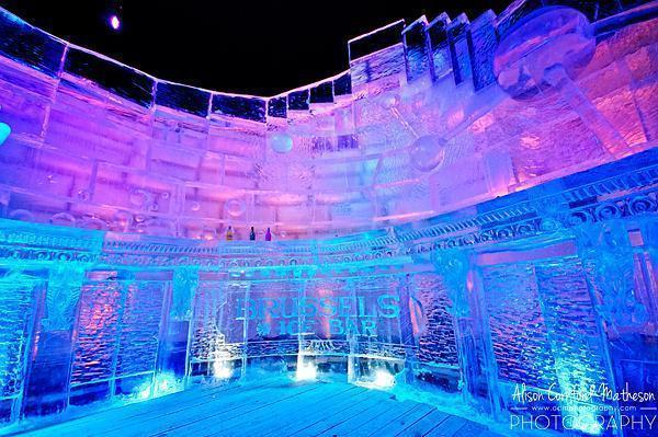 Ice cold drinks at the Brussels Magic Ice Bar