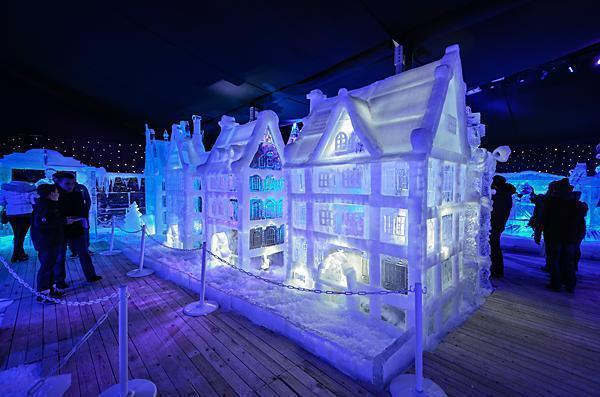Bruges in ice