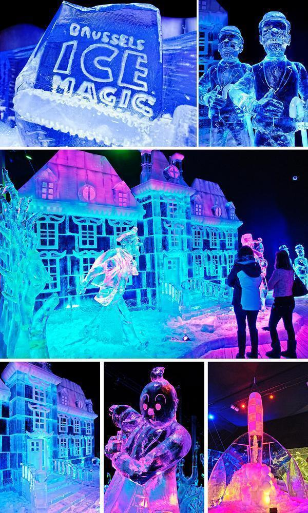 The world of Tintin in ice at the Ice Magic Festival
