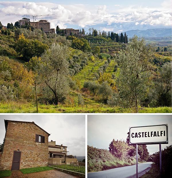 Castelfalfi's castle is undergoing restoration