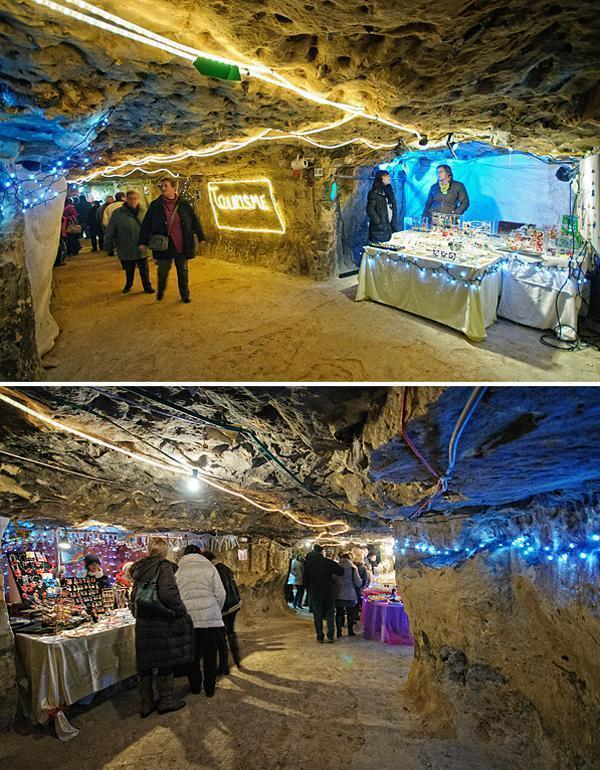 Christmas in the caves at the Grottes de Wonck