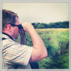 Andrew surveys the Atlantic wall with his Swarovski Optik CL-Pocket binoculars