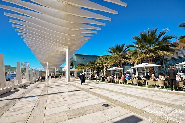 Boardwalk in Malaga, Spain