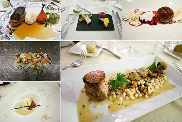 A few of the dishes sampled at the 7 Fontaines restaurant