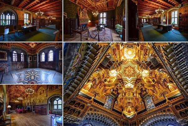 Cardiff Castle's stunning interior