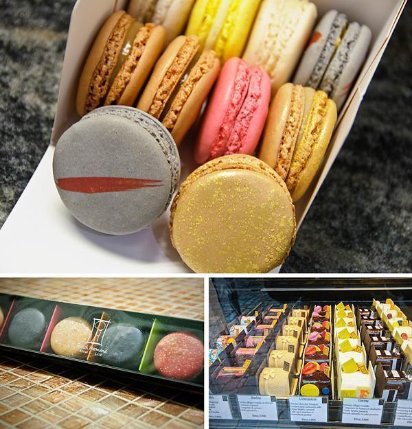 Patrick Hermand macaroons and cakes