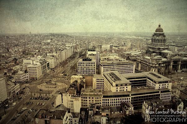 The view of Brussels from the upper floors of The Hotel