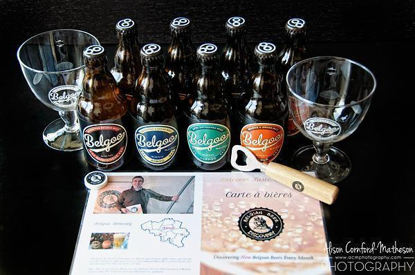 The goodies from Belgian Beer Discovery's beer of the month box