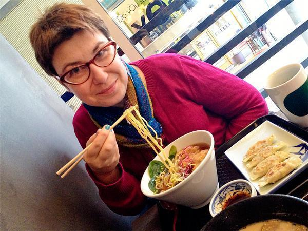 With slurpable ramen, I'm in my happy place