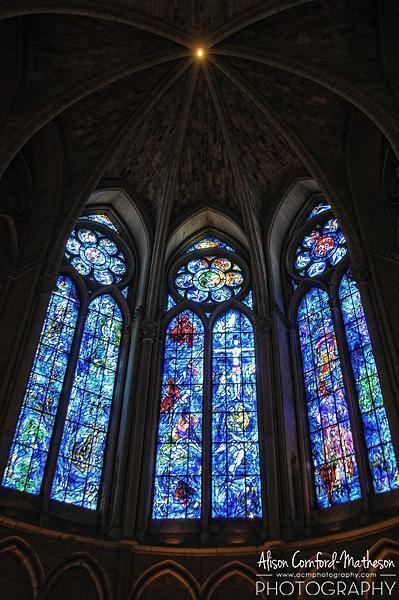 The Marc Chagall window in Reims Cathedral