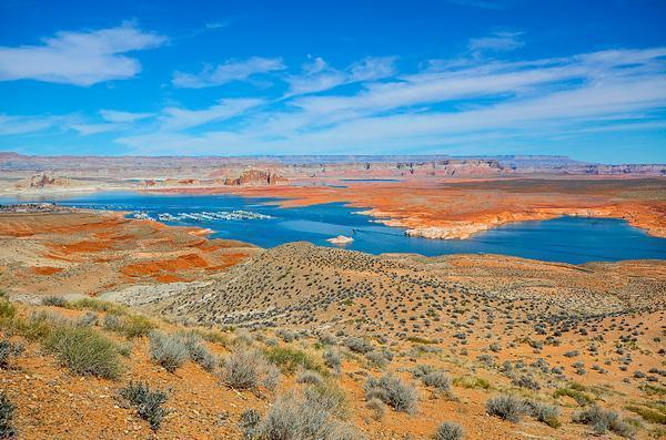 The view of Lake Powell
