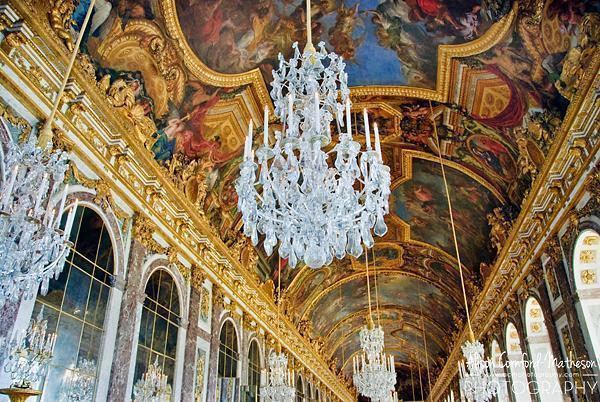 The famous Hall of Mirrors at Versailles