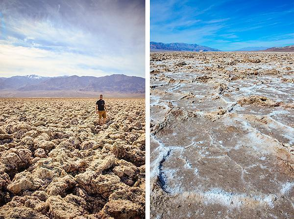 Devil's Golf Course and salt flats of Death Valley