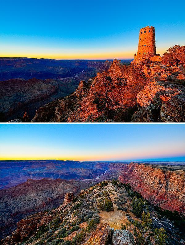 Sunset at the Desert View Watchtower