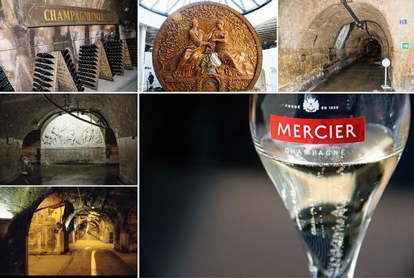 Visiting the extensive caves of Champagne Mercier