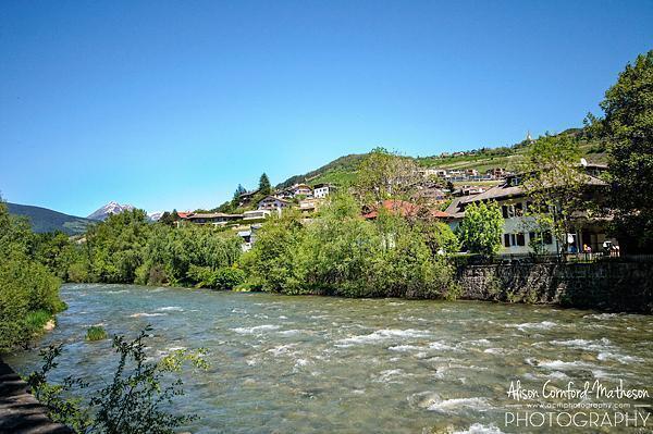 Walking along the river in Brixen