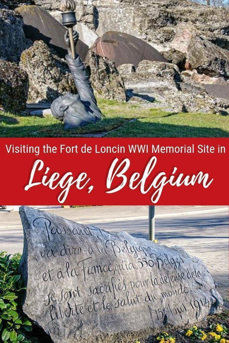 The ruined Fort de Loncin, in Ans, in the province of Liège, Belgium, is a powerful memorial to Belgian bravery and the destruction of World War 1.