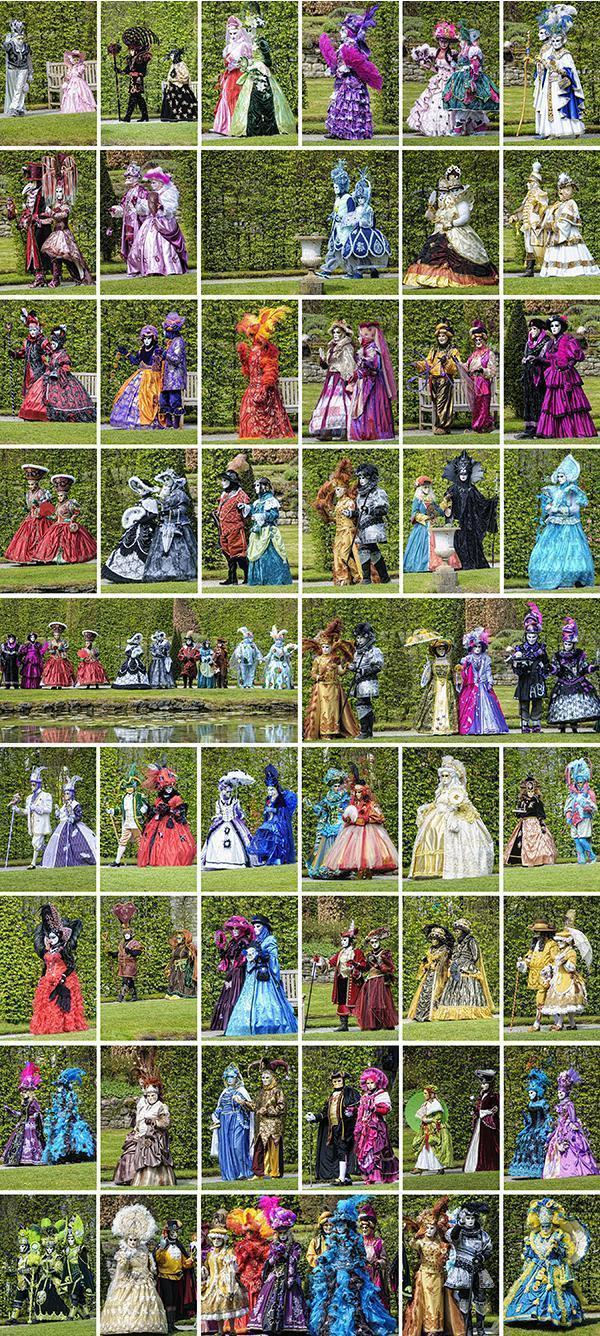 The Venetian Carnival parade in full costumed glory
