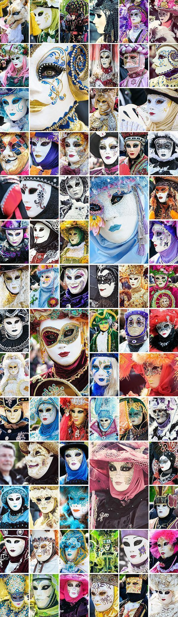 Up close and personal with the carnival masks