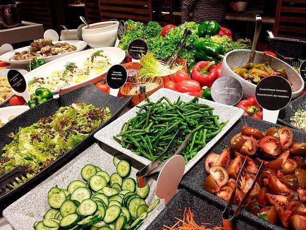 A small selection from the salad bar