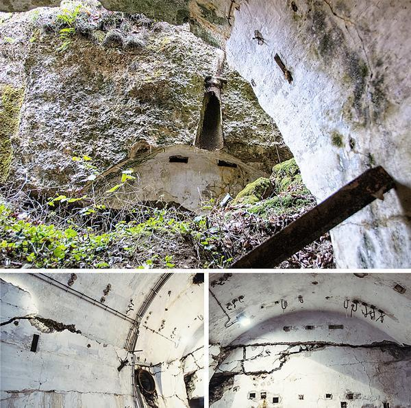 Huge cracks and shifts in the walls show the power of the explosion
