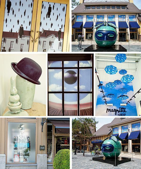 Magritte pops up all over the village. We loved spotting all of the fun details!