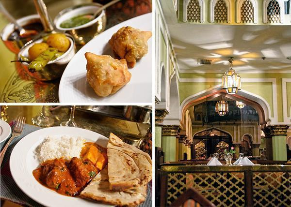 Authentic Indian food in Cairo at the Mena House Hotel
