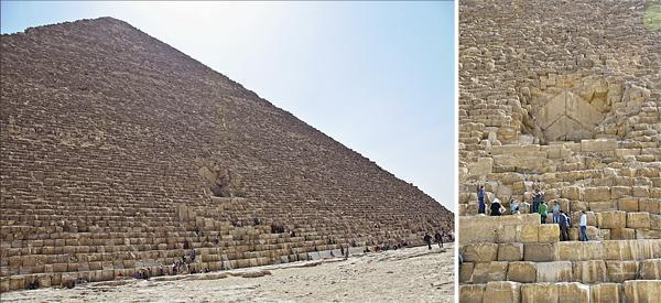 When you see how tiny the people are compared to the stones, you begin to realise how huge the pyramids really are