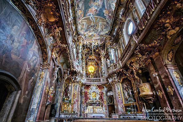 Every inch of the church is decorated in Baroque style