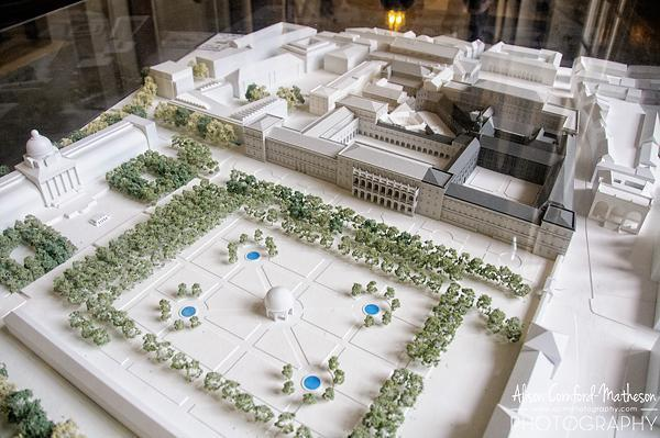 A model of the Residenz Palace shows its current layout