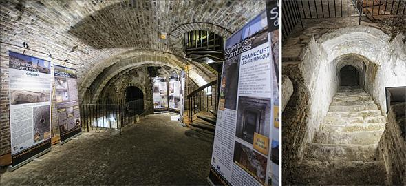 In the basement of the tourist office, you can see the tunnels under the city.