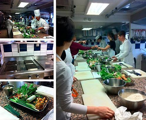 A few photos from the author's Cordon Bleu cooking experience