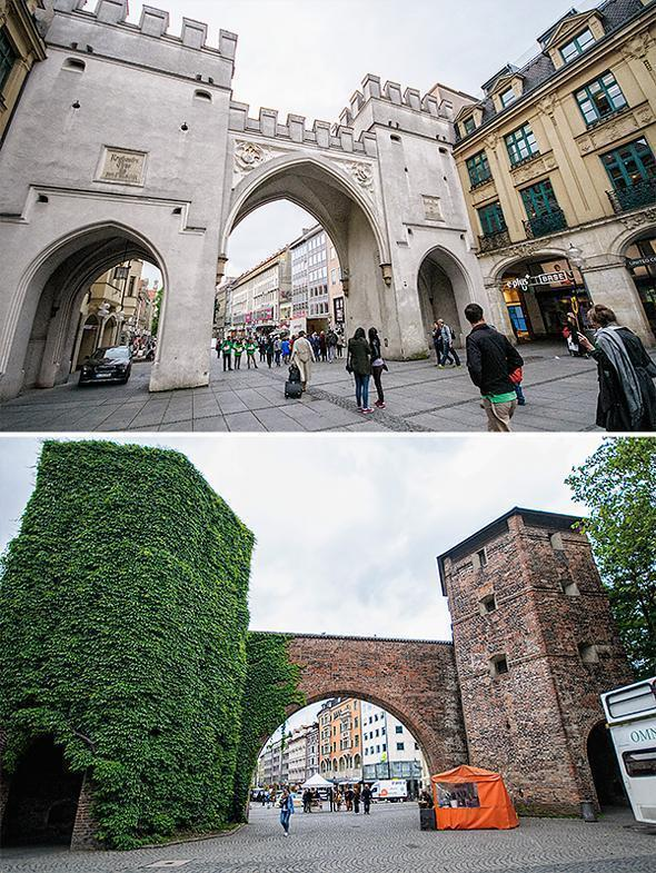 Karlstor and Sendlinger Tor and two of Munich's city gates