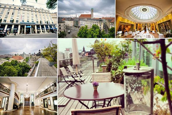 The Bayerischer Hof Hotel in Munich has a fantastic rooftop terrace.