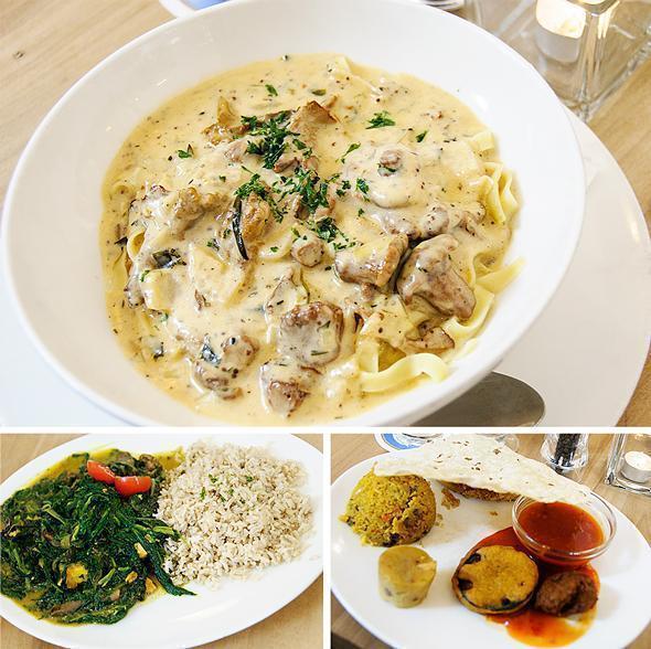 Fabulous vegetarian meals at Prinz Myshkin restaurant in Munich