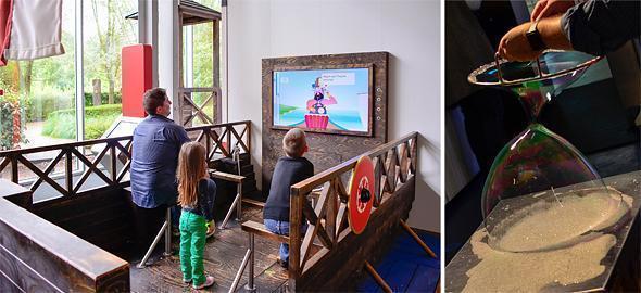 Row a viking ship or make giant bubbles at Technopolis