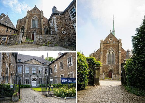 The lovely Val-Dieu Abbey in Aubel, Belgium