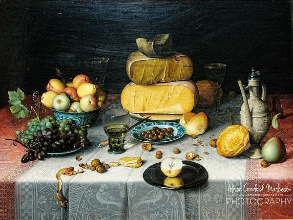 Still Life with Cheese, Floris Claesz. van Dijck, c. 1615
