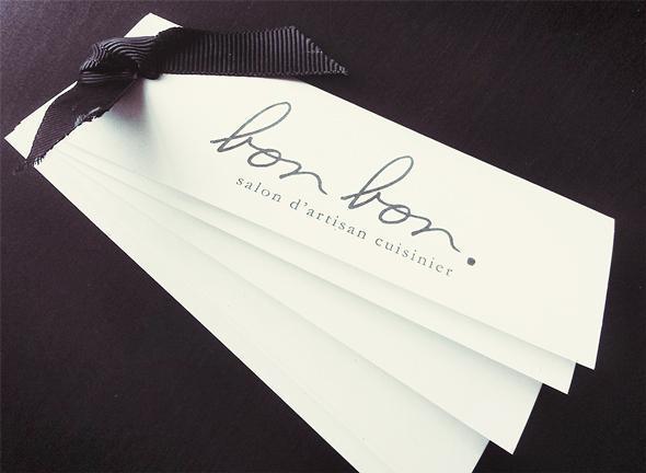 Our little take-away - the Bon Bon menu