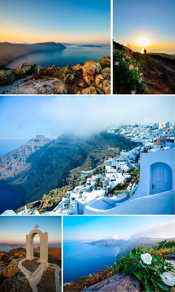 A magical sunrise hike from Oia to Fira, Santorini