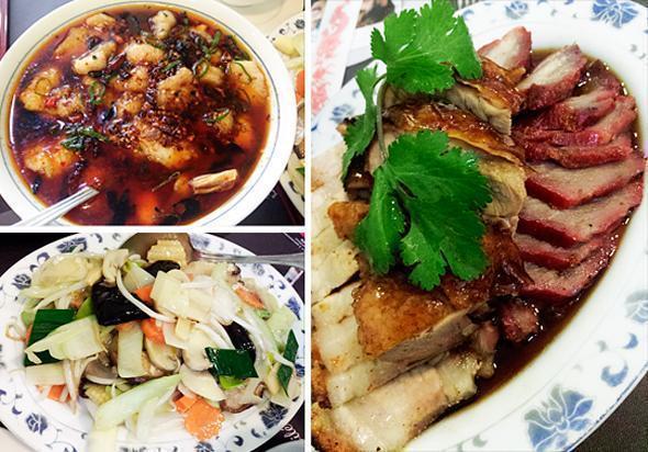 Fresh veggies, crispy duck and hot, hot, hotpot!